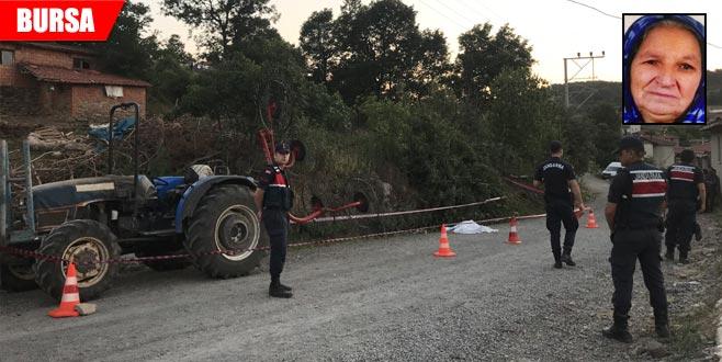 Traktörden düşen kadın hayatını kaybetti