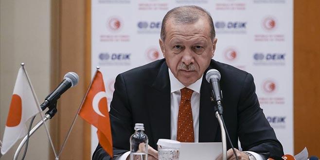 Erdoğan'dan Japon işadamlarına Türkiye'de yatırım çağrısı