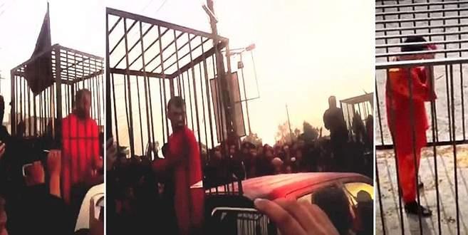 IŞİD'in kafesli geçit töreni
