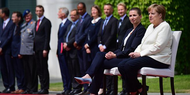 Merkel'in titremesine 'sandalye' önlemi