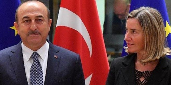Çavuşoğlu ve Mogherini, Doğu Akdeniz'i görüştü