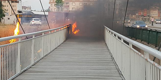 Köprü alevlere teslim oldu