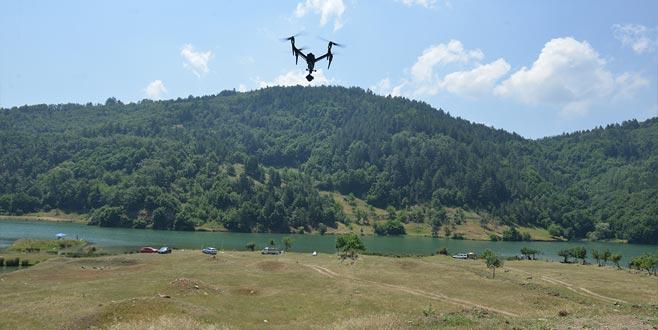 Bursa'nın suyuna 'drone'lu kontrol