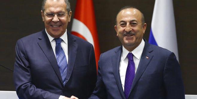 Çavuşoğlu ile Lavrov İdlib'i görüştü