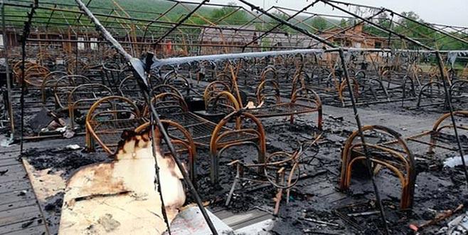 Kampta yangın: 4 çocuk öldü
