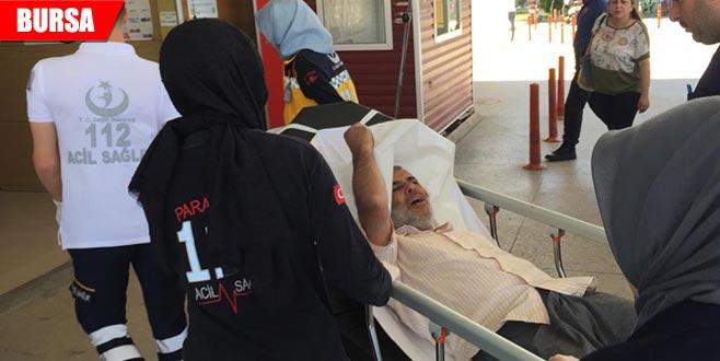 Kazada yaralandı, tedavi olmamak için direndi