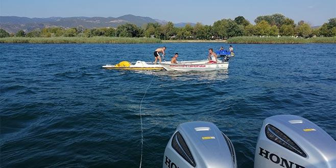 İznik Gölü'nde mahsur kalan 5 kişi kurtarıldı