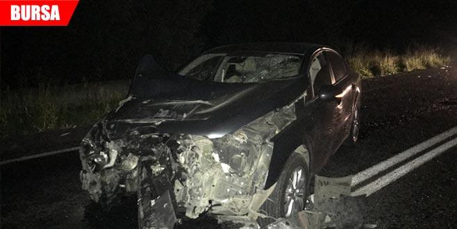 TIR'a arkadan çarpan otomobilin sürücüsü alkollü çıktı