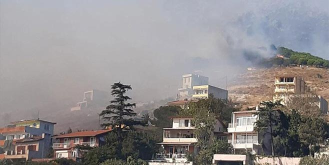 Marmara Adası'ndaki orman yangını yerleşim yerlerine sıçradı