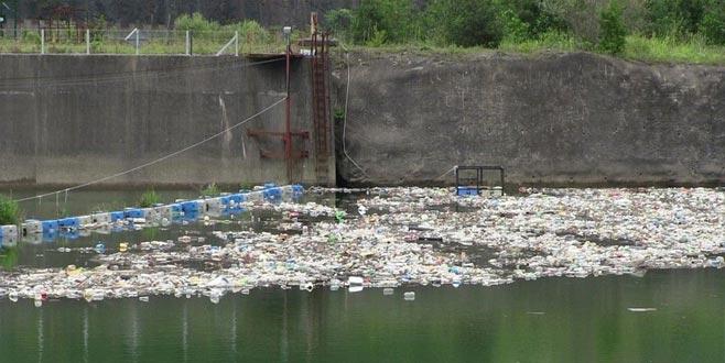 Kurban atıklarını baraj gölüne attılar