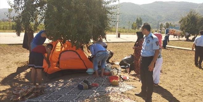 Sahilde çadır operasyonu