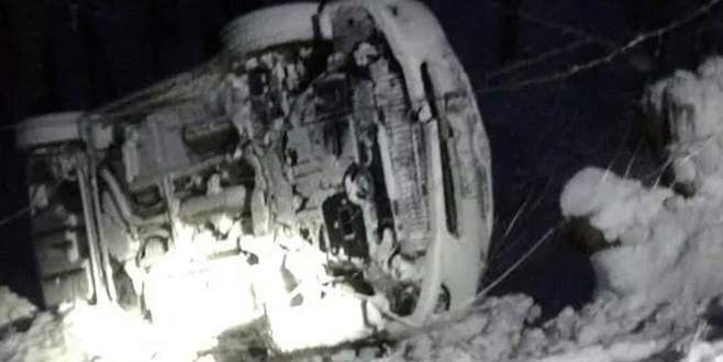 Uludağ'da yoldan çıkan araç uçuruma yuvarlandı: 2 yaralı