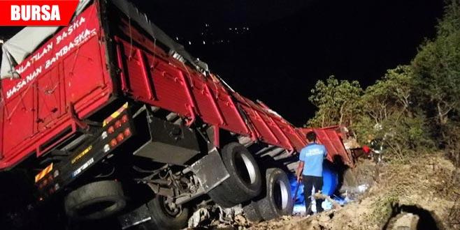 Kazada ölen kamyon sürücüsünün kimliği belli oldu