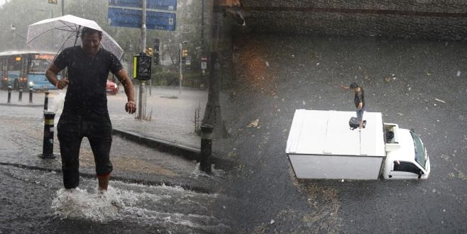 İstanbul'da yağmur hayatı felç etti: Vapurlar iptal, araçlar yolda kaldı