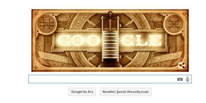Alessandro Volta doodle oldu