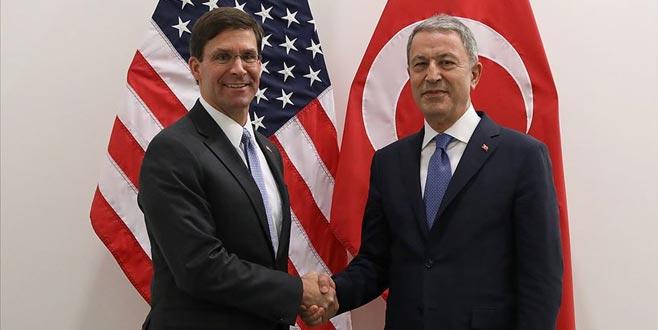 Bakan Akar'dan ABD'ye kritik güvenli bölge telefonu