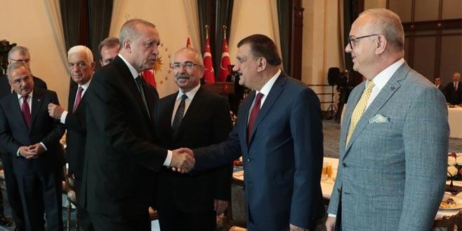 Cumhurbaşkanı Erdoğan ile görüşen belediye başkanlarından açıklama