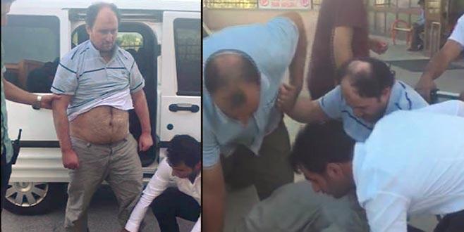 Polise zorluk çıkaran FETÖ'cü böyle götürüldü