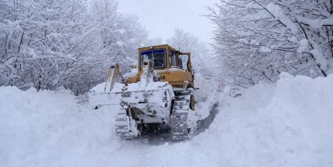 Bursa'da 36 köy yolu kapalı
