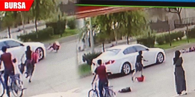 Yaya geçidinde otomobilin çarptığı küçük kız yaralandı