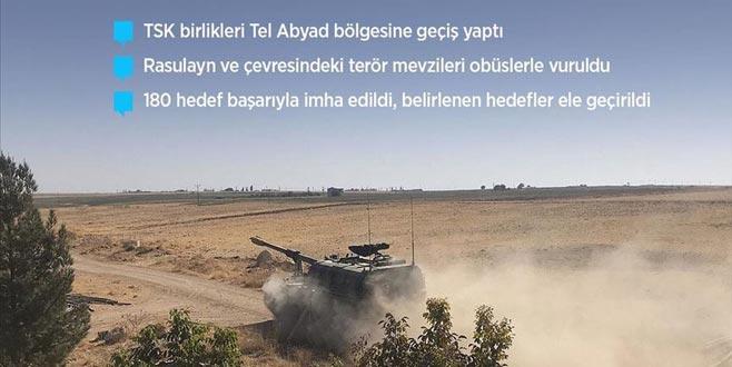 Mehmetçik Fırat'ın doğusunda! Barış Pınarı Harekatı'nda 2. gün