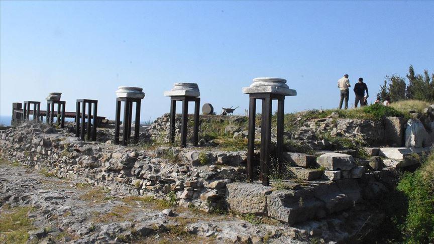 Tieion'daki 'Roma tapınağı' gün yüzüne çıkarılıyor
