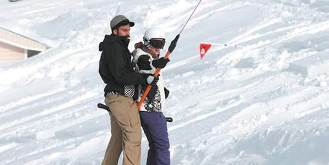 Sevgiliyle kayak