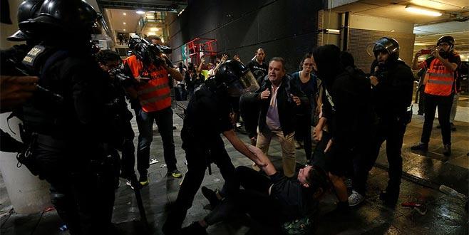 Katalanlara sert müdahale