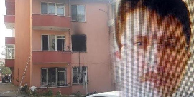 Evi ateşe verdikten sonra kızını öldürüp canına kıydı
