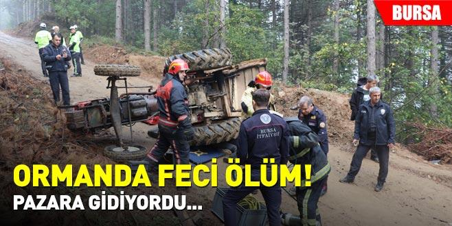 Ormanda feci ölüm! Pazara gidiyordu...