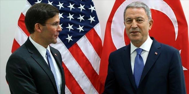 Milli Savunma Bakanı Hulusi Akar, Esper ile görüştü