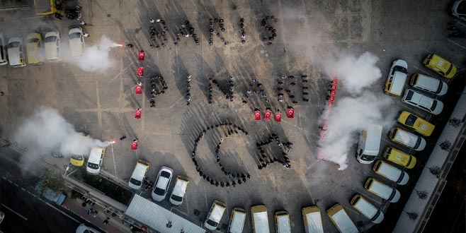 Bursa'da Barış Pınarı'na böyle destek verdiler