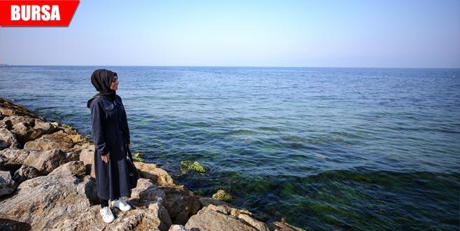 İlk kez deniz görmenin mutluluğunu yaşıyor!