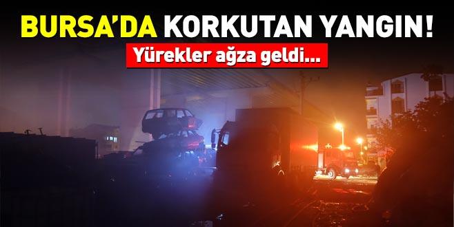 Bursa'da korkutan yangın! Yürekler ağza geldi...