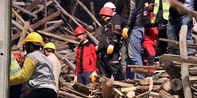 Cami inşaatında göçük! Mühendis enkaz altında