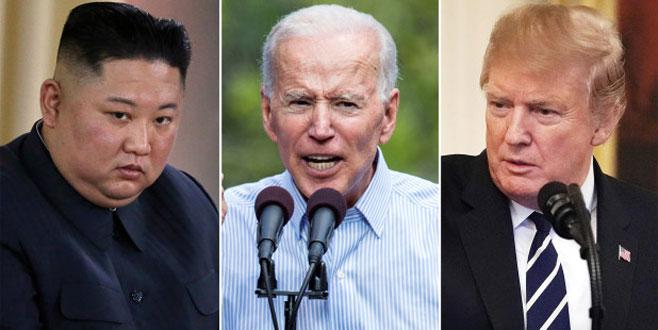 Trump ve Kim:Biden düşük zekalı