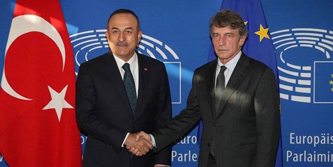 Çavuşoğlu'dan AP Başkanı Sassoli'ye tepki