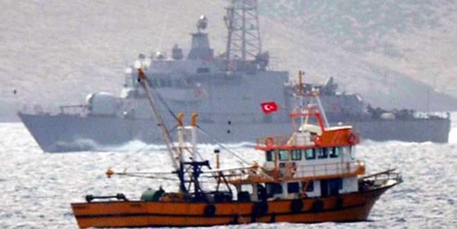 Türk balıkçılara Yunan tacizi