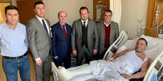 Trafik kazası geçiren Bursaspor taraftarına vekil ziyareti