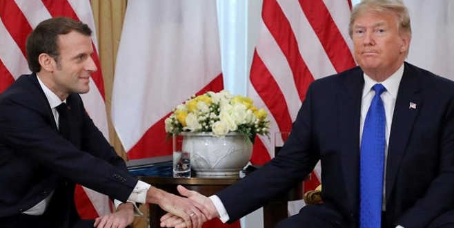 Trump'la görüşen Macron'dan açıklama: Sözlerimin arkasındayım