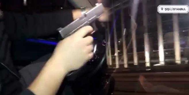 Yanındaki kadına hava atmak için havaya ateş açan maganda tutuklandı