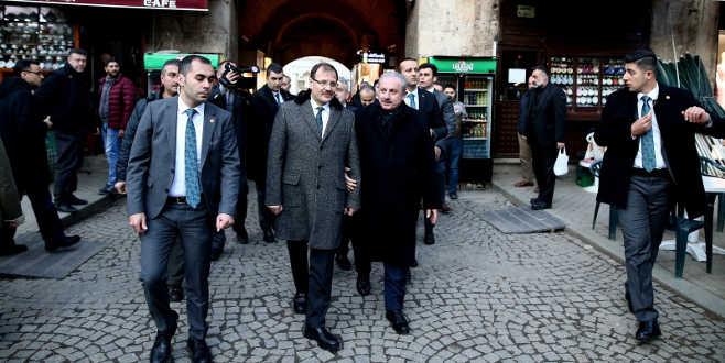 TBMM Başkanı Şentop'tan Bursa esnafına ziyaret
