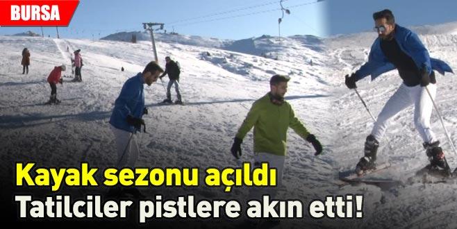 Kayak sezonu açıldı, tatilciler pistlere akın etti