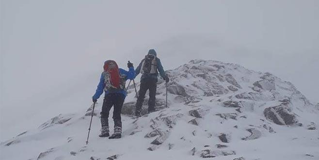 Uludağ'da 2 kişinin kaybolduğu günkü hava durumu kameraya böyle yansıdı
