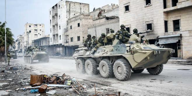 Rus askerleri Rakka'da