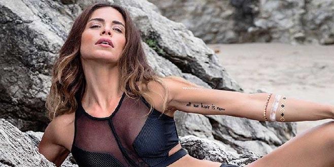 Ünlü stilist Eliz Sokuçoğlu, bikinisiyle spor yaptı