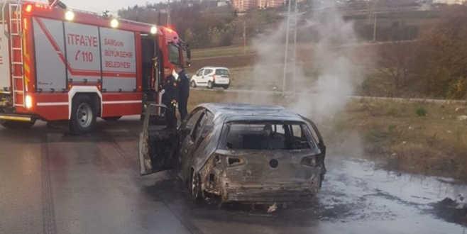 Boşanma aşamasındaki karısının otomobilini yaktı
