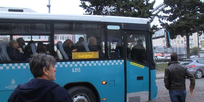 Otobüste taciz iddiası ortalığı karıştırdı