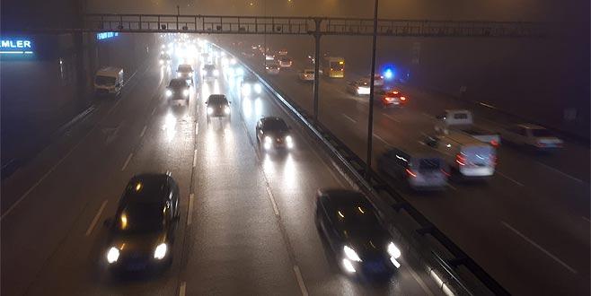 Bursa'da sis etkili oldu