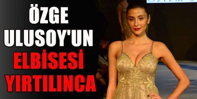 Özge Ulusoy'un elbisesi yırtılınca...